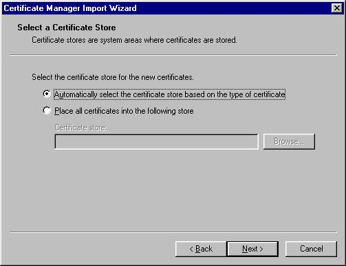 Root Certificate Installation for Outlook & Outlook Express