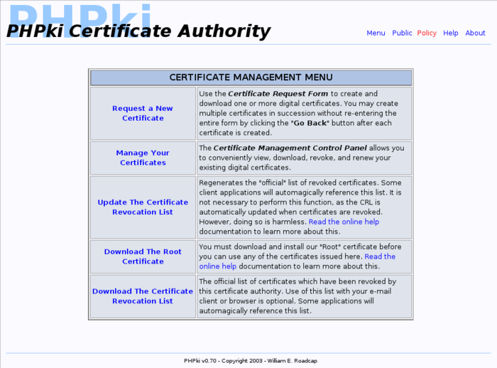 Phpki Ruby Shoes Certificate Authority